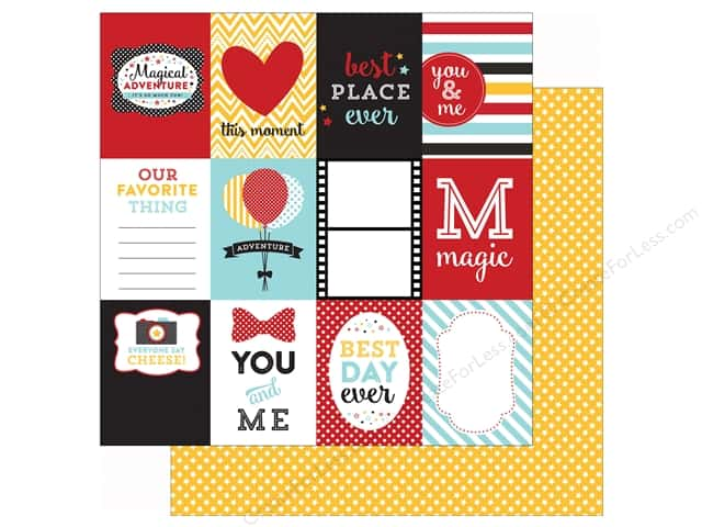 Echo Park 12 x 12 in. Paper Magical Adventure 3X4 Journaling Cards (25 sheets)