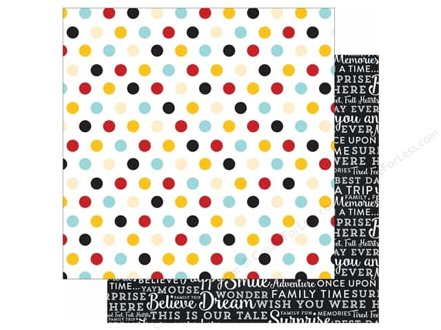 Echo Park 12 x 12 in. Paper Magical Adventure Multi Dots (25 sheets)
