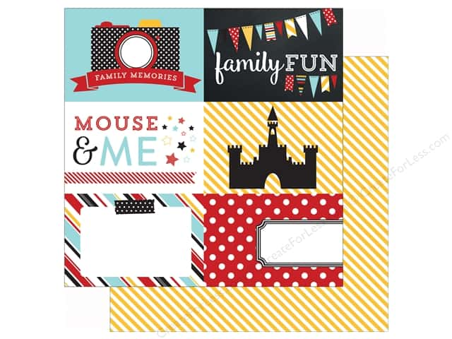 Echo Park 12 x 12 in. Paper Magical Adventure 4X6 Journaling Cards (25 sheets)