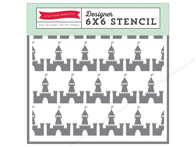 Echo Park Designer Stencil 6 x 6 in. Magical Adventure Castle