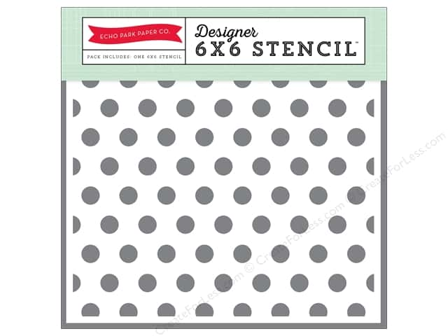 Echo Park Designer Stencil 6 x 6 in. Magical Adventure Polka Dot #2