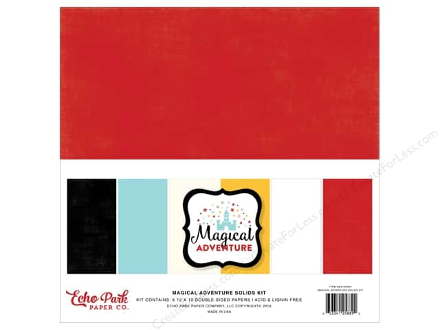 Echo Park 12 x 12 in. Paper Pack Magical Adventure Coordinating Solids