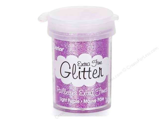 Darice Extra Fine Glitter 15 gram Light Purple