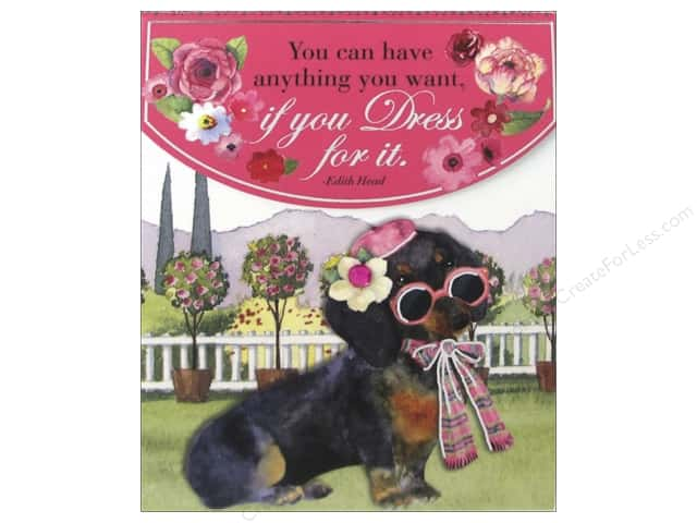 Punch Studio Note Pad Pocket Posh Pets Dachshund