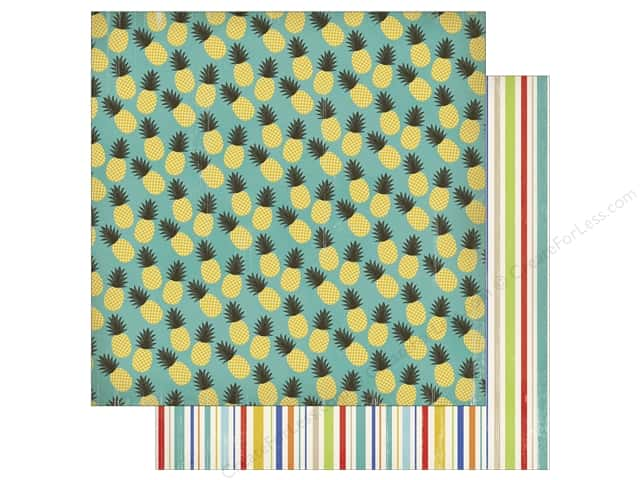 Carta Bella 12 x 12 in. Paper Beach Day Pineapple Paradise (25 sheets)