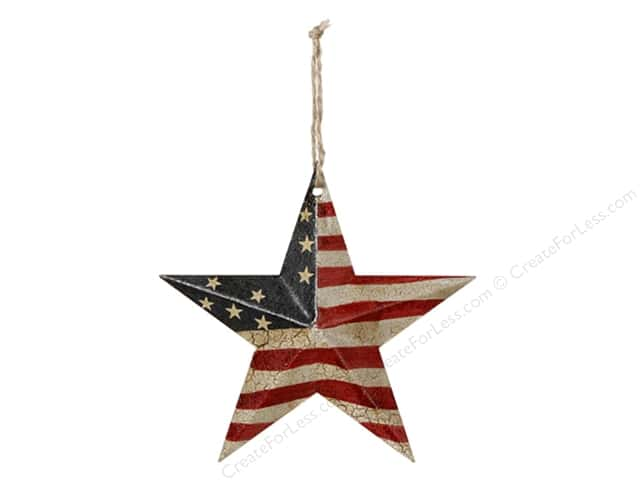 Darice USA Flag Barn Star 5 3/4 in.