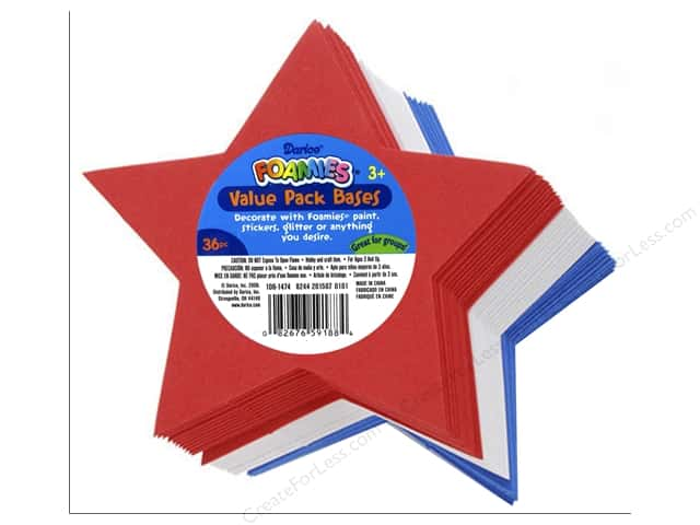 Darice Foamies Foam Shapes 36 pc. Value Pack Stars