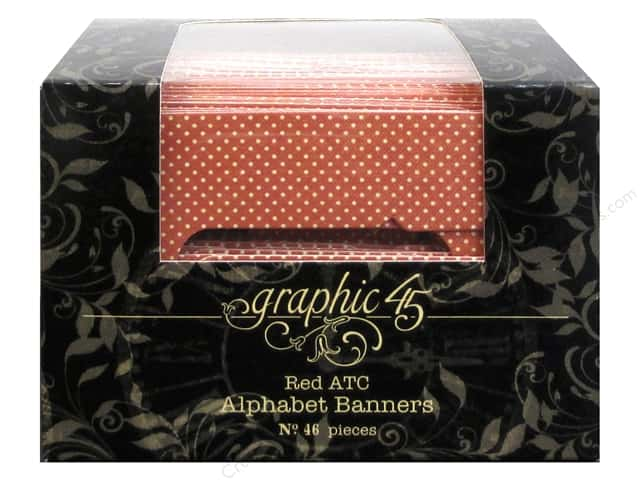 Graphic 45 Staples Alpha Banner - ATC Red