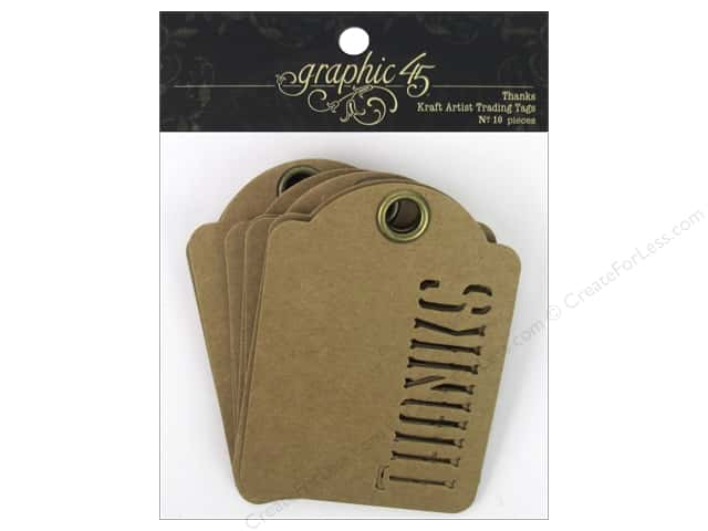 Graphic 45 Staples Tags - ATC Thanks Kraft
