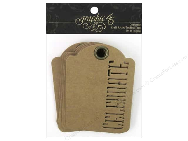 Graphic 45 Staples Tags - ATC Celebrate Kraft