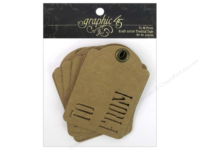 Graphic 45 Staples Tags - ATC To & From Kraft