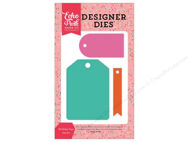 Echo Park Designer Dies Party Time Birthday Tags