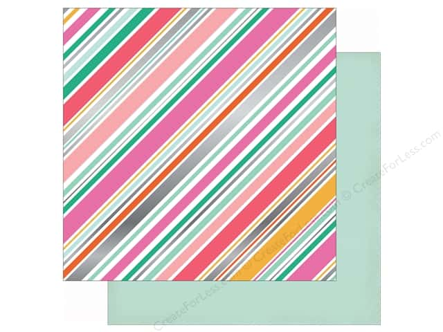 Echo Park 12 x 12 in. Paper Party Time Foil Diagonal Stripe (15 sheets)