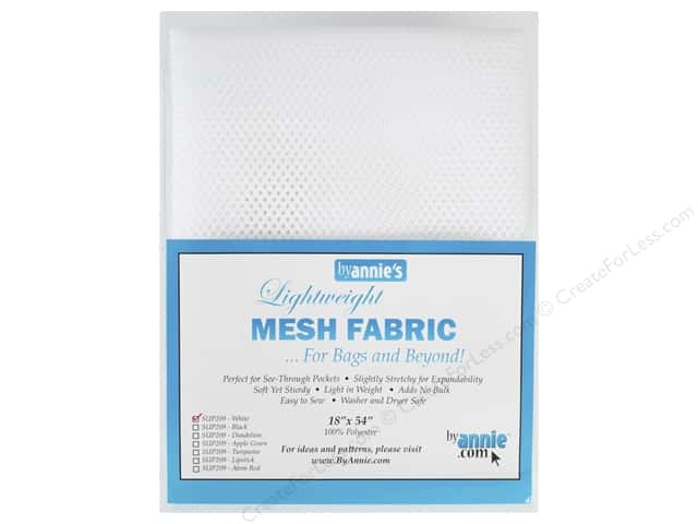 By Annie Lightweight Mesh Fabric 18 x 54 in. White