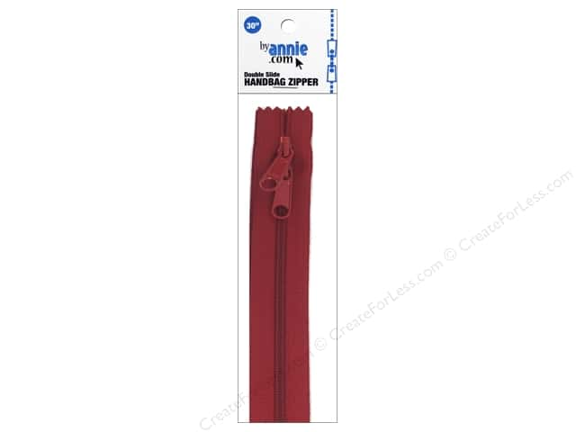 By Annie Handbag Zippers Double Slide 30 in. Hot Red