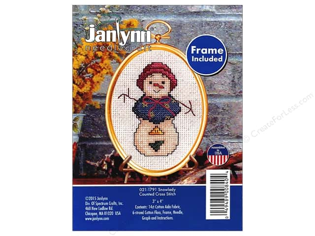 Janlynn Cross Stitch Kit Ornament Snowlady
