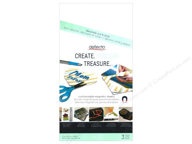 "Deflecto Craft Magnetic Sheets 8""x 15"" 3pc"