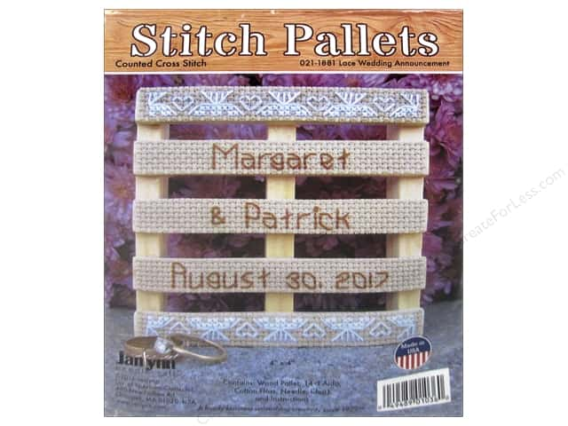 Janlynn Cross Stitch Kit Stitch Pallets Lace Wedding Announcement