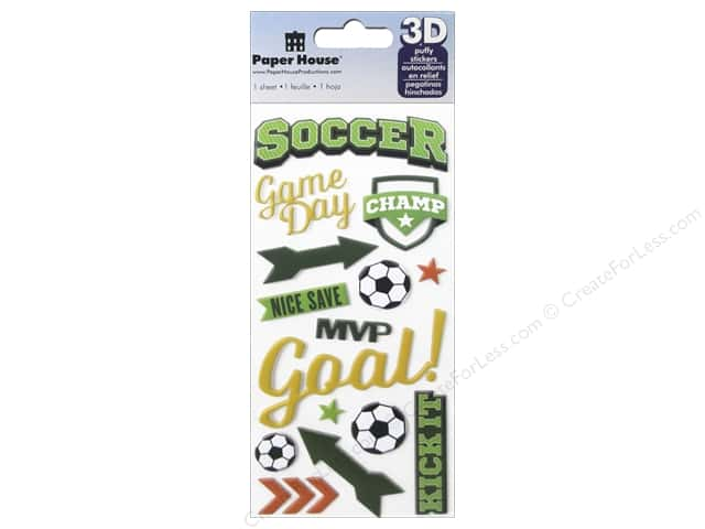 Paper House Sticker 3D Puffy Soccer Champ