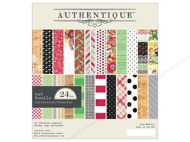 Authentique 6 x 6 in. Paper Bundle Cheerful
