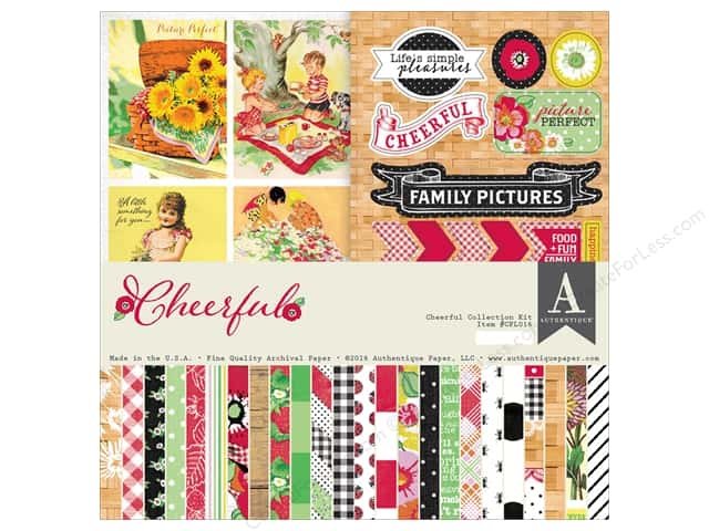 Authentique 12 x 12 in. Collection Kit Cheerful