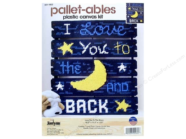 Janlynn Plastic Canvas Kit Pallet-ables Love You To The Moon