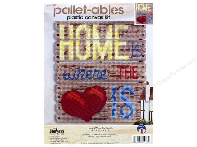 Janlynn Plastic Canvas Kit Pallet-ables Home Is Where The Heart Is