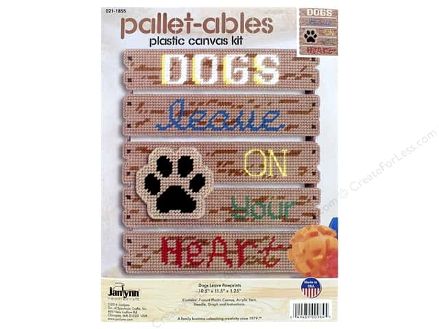 Janlynn Plastic Canvas Kit Pallet-ables Dogs Leave Pawprints