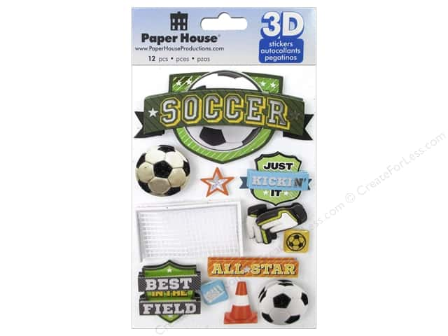 Paper House Sticker 3D Soccer Champ