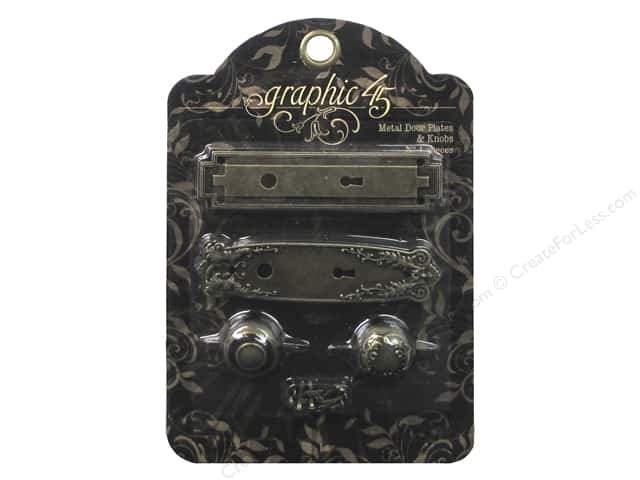 Graphic 45 Staples Door Plates & Key