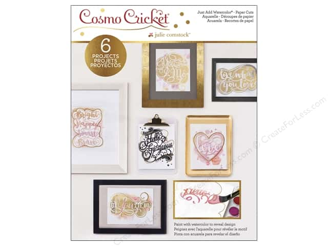 Cosmo Cricket Just Add Watercolor Paper Cuts Deck