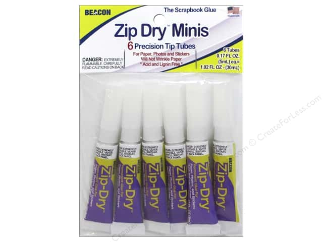 Beacon Zip Dry Paper Glue Mini 6 pc.