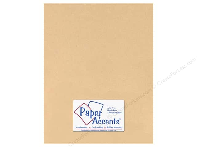 Cardstock 8 1/2 x 11 in. #126 Smooth Tan by Paper Accents (25 sheets)