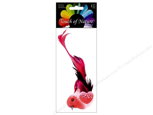 Midwest Design Artificial Birds 4 1/2  in. Feather Red With Clip
