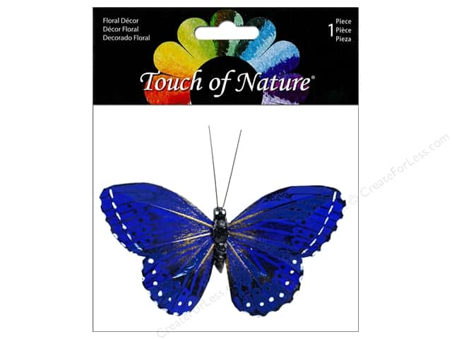 Midwest Design Butterfly Monarch 3.75 in. Blue