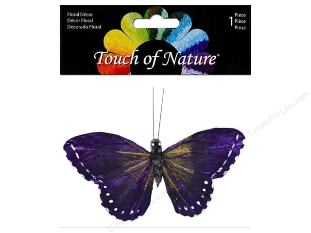 Midwest Design Butterfly Monarch 3.75 in. Purple