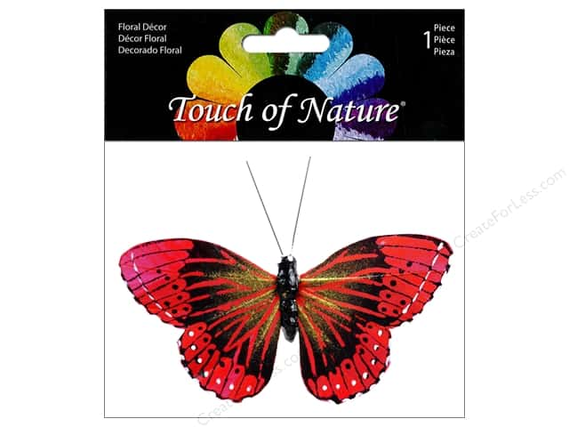 "Midwest Design Butterfly Monarch 3.75"" Red"