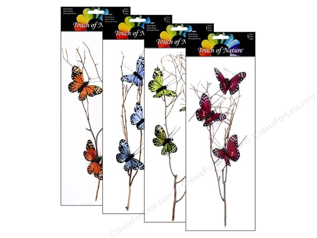 "Midwest Design Butterfly Stem 16"" Assorted"