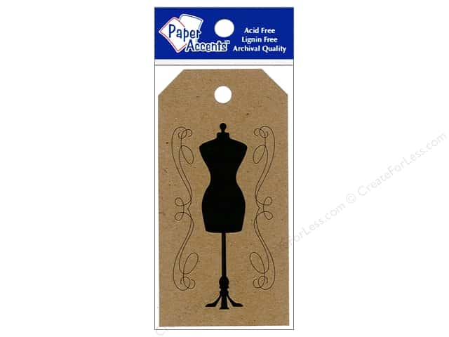 "Paper Accents Craft Tags 2""x 3.75"" 25pc Dress Form Brown Bag"