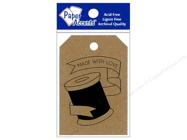 """Paper Accents Craft Tags 2.125""""x 3"""" 25pc Spool Brown Bag"""