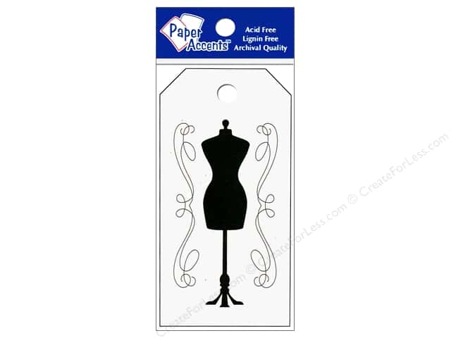 "Paper Accents Craft Tags 2""x 3.75"" 25pc Dress Form Birch"