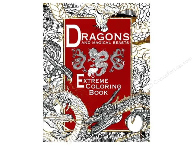 Scribo Publishing Dragons And Magical Beasts Extreme Coloring Book
