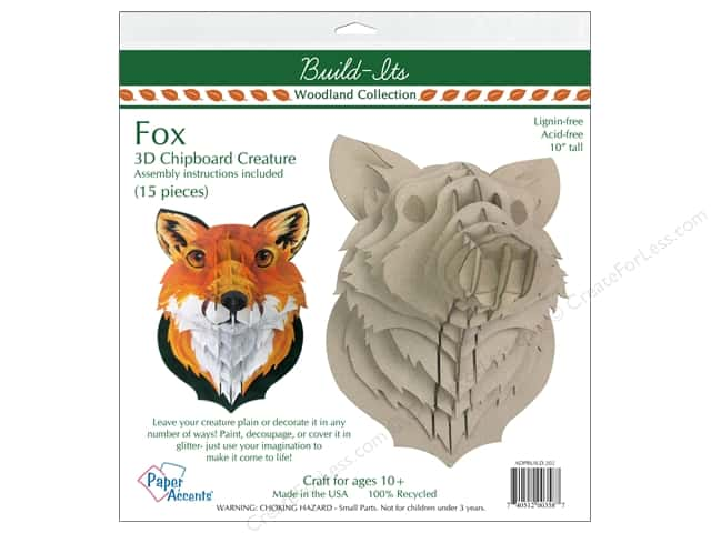 """Paper Accents Build Its Chip Fox 10"""" Tall"""