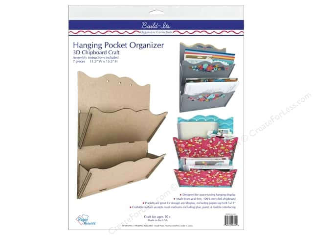 Paper Accents Build Its Chip Organizer Hanging 2 Pocket Scalloped