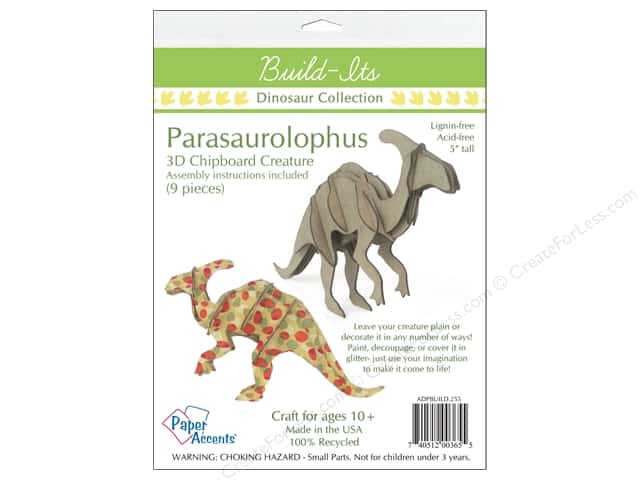 "Paper Accents Build Its Chip Parasaurolophus 5"" Tall"