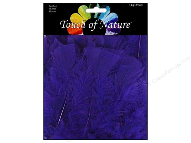 Midwest Design Turkey Flat Feathers 14 gm. 4 - 6 in. Purple