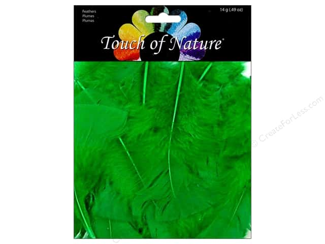 Midwest Design Turkey Flat Feathers 14 gm. 4 - 6 in. Kelly Green