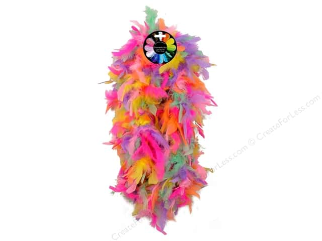 Midwest Design Turkey Flat Chandelle Feather Boa 2 yd. Conversation Heart
