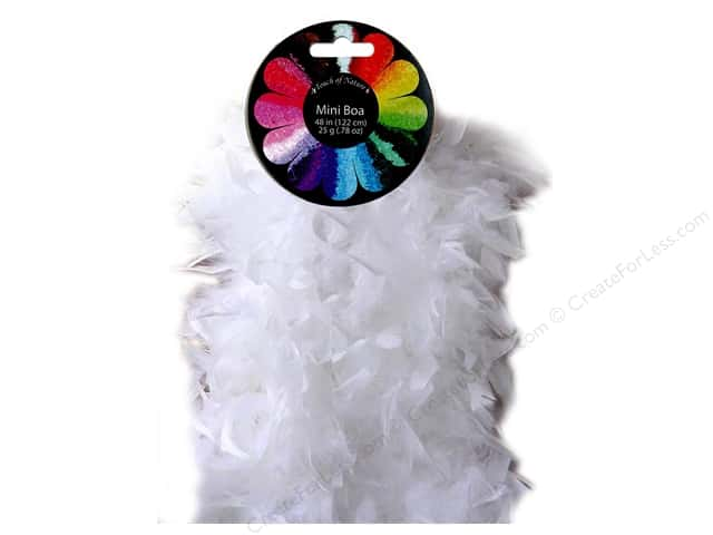 Midwest Design Turkey Flat Chandelle Mini Feather Boa 48 in. White