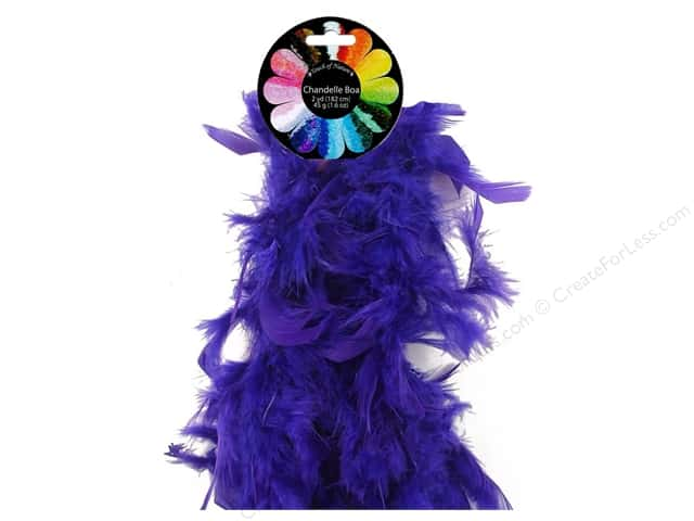 Midwest Design Turkey Flat Chandelle Feather Boa 2 yd. Purple